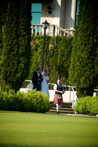 Heather's walk to A Highland Wedding