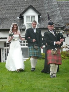 Wedding Piper, Scotland