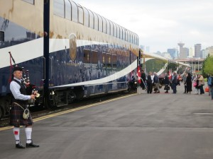 """""""Working on the railroad""""  at the Rocky Mountaineer station in Vancouver."""